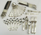 Vintage Sanei Kinzoku Co JAPANESE Nickel Silver Flatware Set 83 Pieces 12 Place