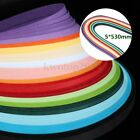 160 Strips Quilling Paper 5mm530mm Mixed 16 Colors Origami Papercraft DIY Craft