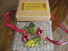 NEW Longaberger 2011 Holly Berry Tie On w Original Box 4 Your Christmas Basket