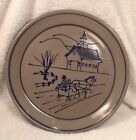 Beaumont Brothers Salt Glazed Pottery 1996 Sleigh Ride Annual Christmas Plate