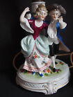 Antique Royal Vienna Figure Dancing Courting Couple Man Lady Statue Lamp Works