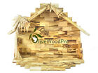 Olive wood nativity Stable 23 cm Handmade Large From Holy land