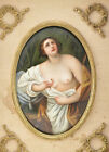 Very Rare 19th Century Porcelain Tile, THE DEATH OF CLEOPATRA, after Guido Reni