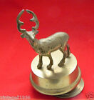 Vintage Revolving Deer Brass Music Box I'd Like to Teach the World to Sing Theme
