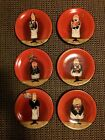 Certified International Dinner Is Served Hand Painted Ceramic Canapé Plates