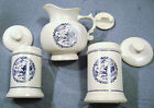 Set of 3 McCoy Vintage Pottery Pitcher and Canisters with Lids, Very Rare