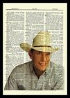 George Strait Dictionary Art Print Poster Picture Vintage Book Country Portrait