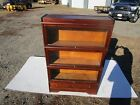ANTIQUE C-1910 SIGNED MACEY MAHOGANY 3 SECTION BARRISTER STACKING BOOKCASE