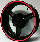 RED REFLECTIVE WHEEL STRIPES RIM STICKERS TAPE DECALS HONDA CBR 600 F F2 F3 F4i