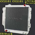 3 ROW CORE ALUMINUM RACING RADIATOR FOR 87 06 JEEP WRANGLER YJ TJ 24L 42L