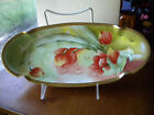 Limoges Old Abbey Artist signed Oval Bowl