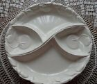Vintage 3 Piece Belmar of CA White Ceramic Lazy Susan Relish Tray EUC