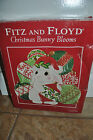 NIB Fitz and Floyd Christmas Bunny Blooms Canape Plate Tray