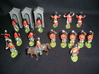 Vintage BRITAINS HERALD ENGLAND TOY SOLDIERS GORDON HIGHLANDERS 1970s PLASTIC