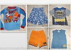 Boys Lot 5 Pajamas Sleepwear Batman Sports Skull Shirts Shorts M 8 10 Cherokee
