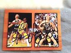1993-94 HOOPS LARRY BIRD MAGIC JOHNSON DUAL AUTOGRAPH EMBOSSED FACTORY SEAL AUTO