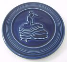 Fiesta Trivet Cobalt Blue Dancing Lady 1st Quality Post 86 EUC