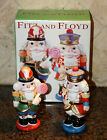 Christmas FITZ & FLOYD Nutcracker Sweets Salt & Pepper Shakers MINT In Box