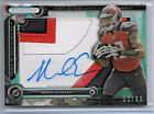 2014 Topps Strata Clear Cut Emerald Mike Evans Auto 3 Color Patch Rc # 50 50