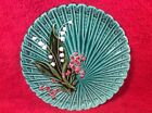 Beautiful Vintage German Majolica Lily of the Valley Plate, gm888