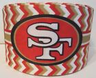 Grosgrain San Francisco 49ers Football 3 Inch Grosgrain Ribbon For Hair Bows