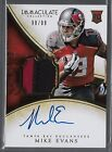 2014 Immaculate Collection Mike Evans On Card Auto 2 Color Patch Rc # to 99