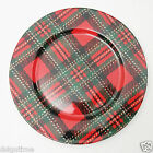 Fitz & Floyd Country Plaid Charger Service Plate FF Fine Porcelain Japan 464