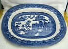 Vintage Blue Willow Midwinter Burslem Made in England 11 1/2 Inch Platter SHP