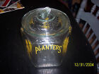 Vintage Large Planter's Peanut Glass Jar w/ Lid