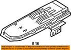 FORD OEM 04-11 Ranger Console-Hinge Plate 3L5Z10047A20AAB