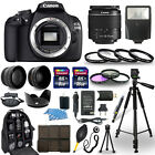 Canon EOS 1200D Rebel T5 SLR Camera + 18 55mm Lens + 30 Piece Accessory Bundle