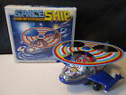 1980s Space Ship Wind-up Powered Tin Plastic MTU Korea Toy Boxed Astronaut HR638