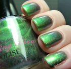 NEW! DARLING DIVA Indie nail polish lacquer BOHEMIAN RHAPSODY Green Holographic