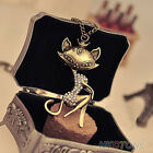 Necklace Vintage Crystal Rhinestone Women Gift Long Chain Charm Pendant Jewelry