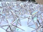 Lot of 100  Stained Glass Moravian STARS Iridescent CLEAR Suncatcher Ornament