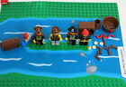4 Vintage LEGO Pirate Captain Redbeard Minifigures Cannon Treasure Weapons L687
