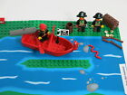 3 Vintage LEGO Pirate Captain Redbeard Minifigures Cannon Treasure Weapons L688