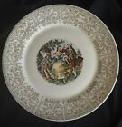 Sebring Pottery-Warranted 22K Gold-Chantilly 1T-S284 (5) Dinner Plate-Victorian