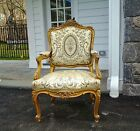 Fine Antique French Louis XV  Early 19th Century Gold Fauteuil Armchair