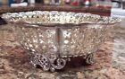 MERIDEN B CO. SILVER PLATED PIERCED/RETICULATED FOOTED CANDY DISH - BOWL