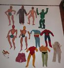 Lot Vintage Mega Corp Action Figures Ironman Spiderman The Hulk parts repair