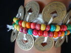 Exotic Set Of Ankle Bracelet With Coin And Colorful Bead Hand Woven Papua Tribal