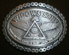 widows sons,  freemasons,all pewter, masonic biker chain belt buckle