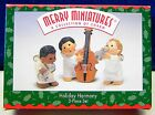 Hallmark 1997 Merry Miniatures Holiday Harmony 3 piece set angels in band