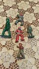 Vintage Lead Figurines Lot, Cowboys, Conductor, British Bobbie
