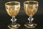 Set of 2 Crystal Baccarat Harcourt 1841 GLASS Empire Goblet/Wine Glass