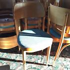 Set 50 Thonet Vintage Turquoise Upholstered Seat Bentwood Dining Chairs Fifty