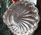 Silverplate Clam Shell Serving Tray Dish Vintage 14