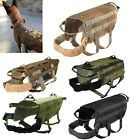 TACTICAL DOG VEST HARNESS K9 MOLLE HUNTING TRAINING MILITARY PATCH PANEL XS XL