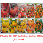 Heirloom Red, Orange, Yellow, Pink, Giant, Cherry Plum Field Tomato seeds, Томат